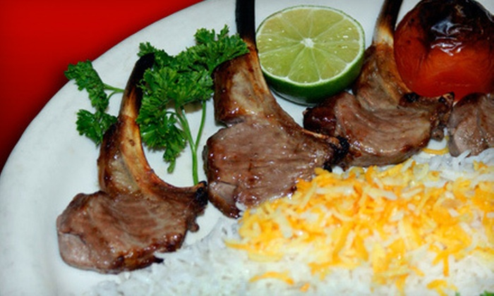 Famous Kabob - Arden - Arcade: Persian Fare and Drinks for Two or More or Four or More at Famous Kabob (Up to 51% Off)