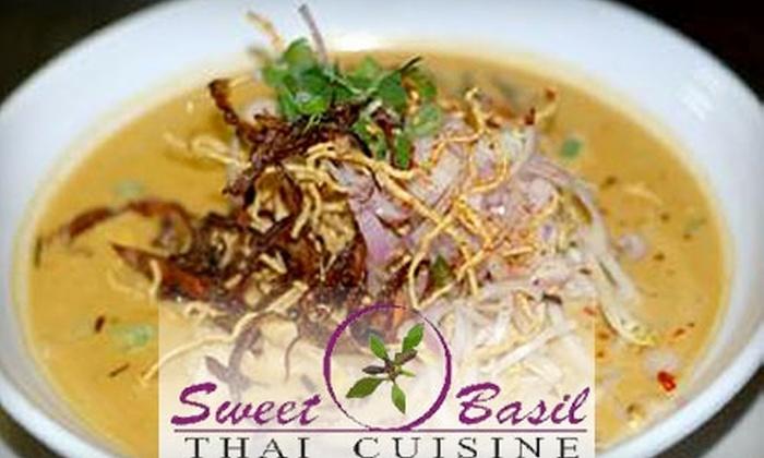 Sweet Basil Thai Cuisine - Grant Park: $15 for $30 Worth of Thai Cuisine and Drinks at Sweet Basil Thai Cuisine