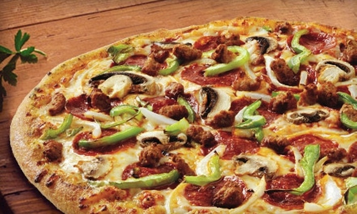Up To 60 Off Large Pizza At Domino S Pizza Domino S Pizza Groupon