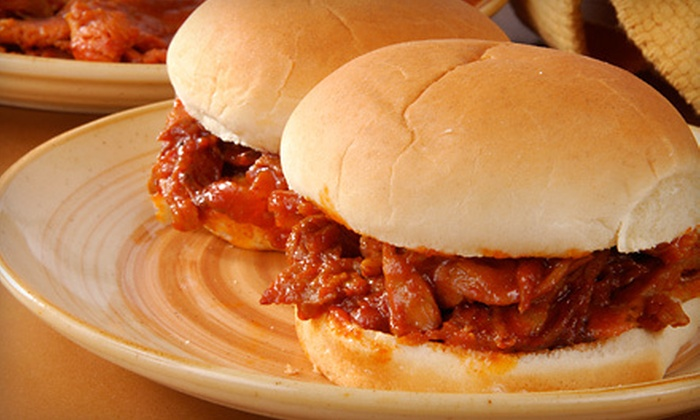 Mr. Spriggs BBQ - Ranchets: $10 for Sandwiches for Four at Mr. Spriggs BBQ in Midwest City (Up to $23.96 Value)