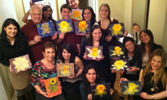 StelnikArt Soirée - Multiple Locations: Painting Class for 1, 2, 4, or Up to 18 People from StelnikArt Soirée (Up to 61% Off)