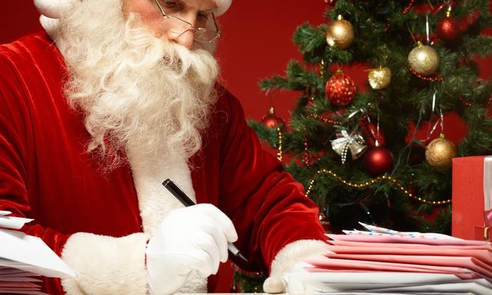 custom letter from santa amazing santa letters groupon
