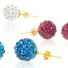10K Gold-Plated Crystal Fireball Earrings