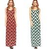 Women's Chevron Print Maxi Dresses