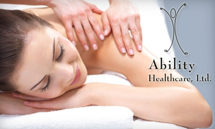 Ability HealthCare - Oak Park: $29 for a 60-Minute Massage at Ability HealthCare in Oak Park ($70 Value)