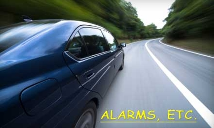 Alarms, ETC. - Multiple Locations: $90 for Llumar Window Tint for Any Car or Truck at Alarms, ETC. Choose From Three Locations.