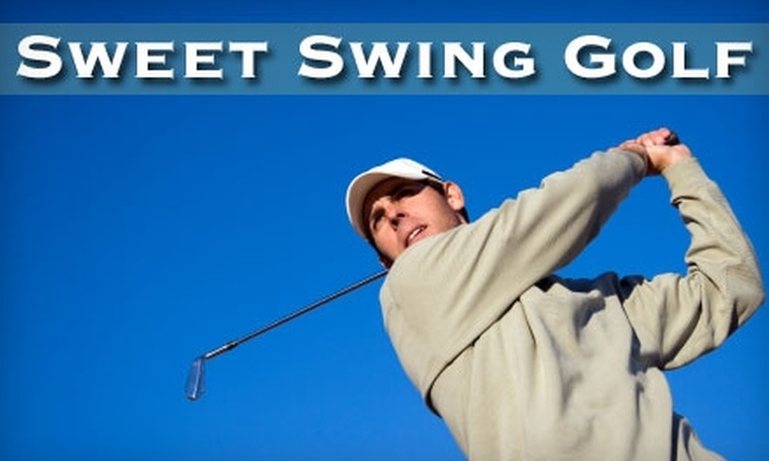 Sweet Swing Golf - Multiple Locations: $89 for 4 Private Golf Lessons Plus One Round of Golf at Bobby Jones Golf Club With Sweet Swing Golf (Up to $284 Value)
