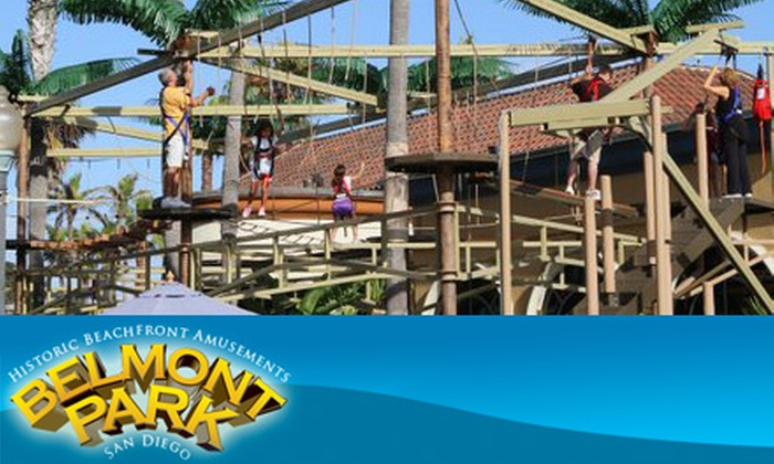 Belmont Park - Mission Beach: $8 for Unlimited Ropes Course, Mini-Golf, Laser Maze, Mirror Maze, Laser Evader, and 20 Arcade Tokens to Belmont Park ($20 Value)