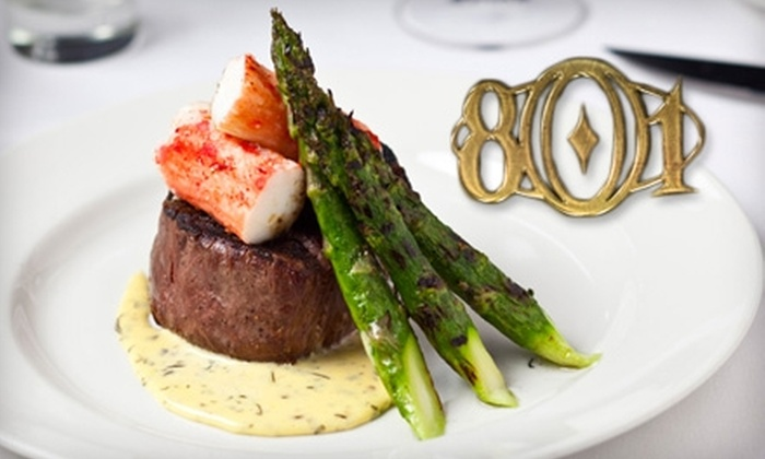 801 Chophouse - Central Business District - Downtown: $40 for $80 Worth of Steakhouse Fare and Drinks at 801 Chophouse