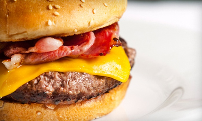 The Gin Mill Fort Pierce - White City: Burger Meal with Waffle Fries and Domestic Beer for Two or Four at The Gin Mill Fort Pierce (Up to 56% Off)