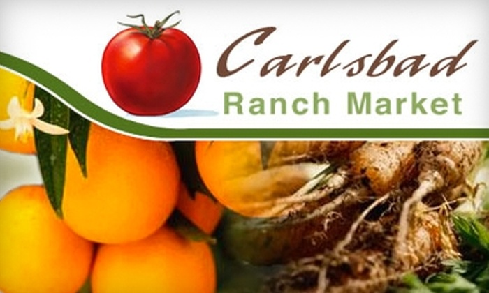 Carlsbad Ranch Market - Carlsbad: $7 for $15 Worth of Local Produce and Groceries at Carlsbad Ranch Market