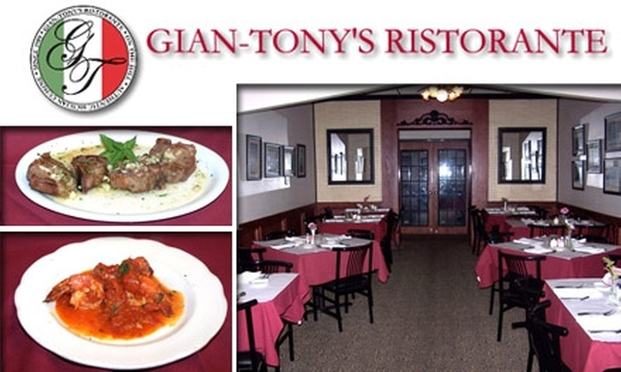 Gian-Tony's Ristorante - The Hill: $15 for $35 Worth of Authentic Italian Cuisine at Gian-Tony's