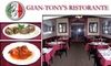 Gian-Tony's Ristorante - The Hill: $15 for $35 Worth of Authentic Italian Cuisine at Gian-Tony's