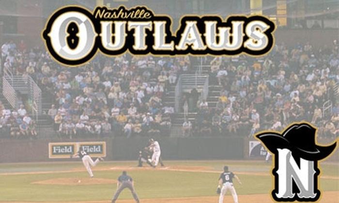 Nashville Outlaws - Nashville-Davidson metropolitan government (balance): $4 for One Ticket to a Nashville Outlaws Baseball Game ($8 Value). Choose from Six Dates.