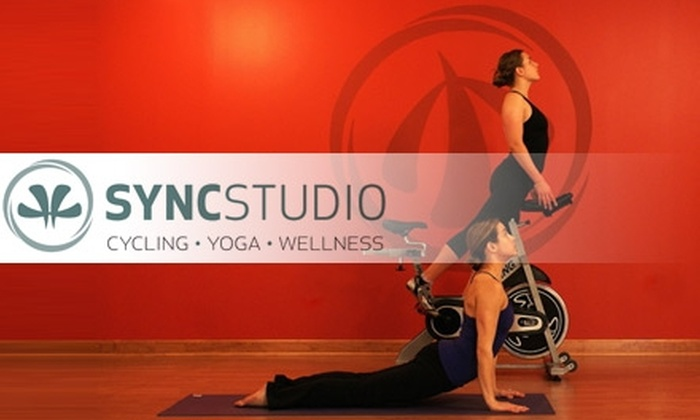SYNCStudio - Durham: $30 for One Month of Unlimited Yoga, Cycling, and Fitness Classes, and a Private Training Session at SYNCStudio in Durham ($130 Value)
