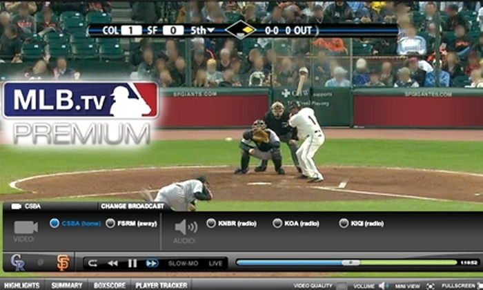 MLB.TV® - San Francisco: $5 for 30 Days of MLB.TV® Premium Service