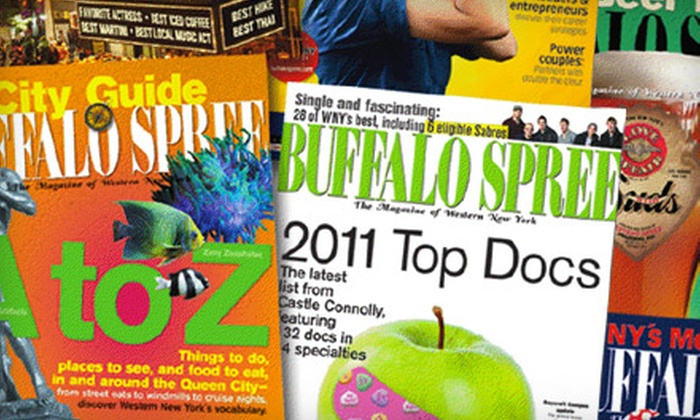"Buffalo Spree Magazine: $12 for a One-Year Subscription to ""Buffalo Spree"" Magazine ($24 Value)"