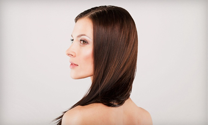 Taj Salon - Albuquerque: Women's Haircut and Style Package with Option for Partial Highlights or Full Color at Taj Salon (Up to 51% Off)