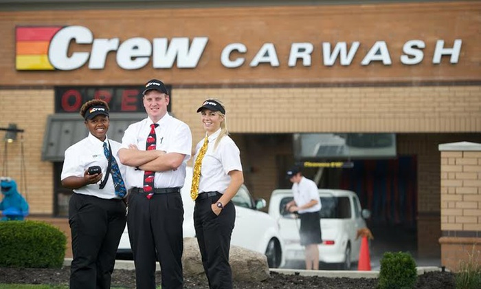 Crew Carwash - Multiple Locations: Three Works or Ultimate Carwashes at Crew Carwash (Up to 47% Off)