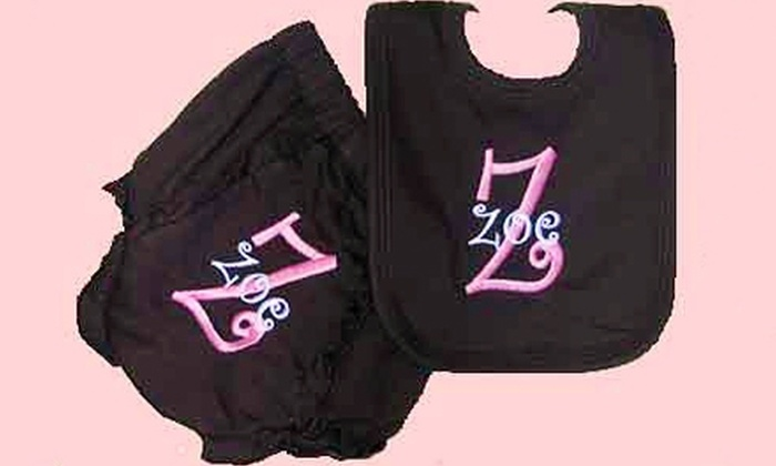 Melrose on Ponce - Decatur: $18 for Three Embroidered Monograms at Melrose on Ponce in Decatur ($36 Value)