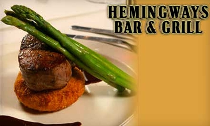 Hemingway's Bar and Grill - Rockport: $15 for $30 Worth of Grilled Cuisine, Seafood, and More at Hemingway's Bar and Grill in Rockport