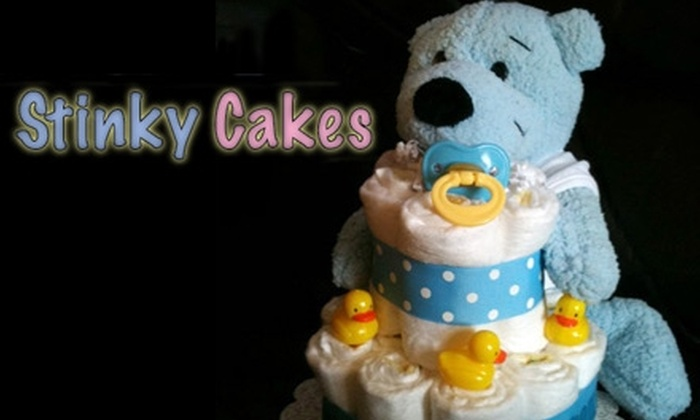 Stinky Cakes: $20 for $40 Toward Decorative Diaper Cakes from Stinky Cakes