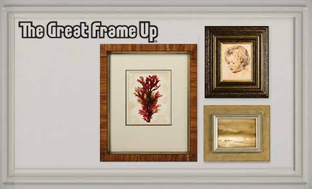 $100 Groupon to The Great Frame Up - The Great Frame Up in Charlottesville