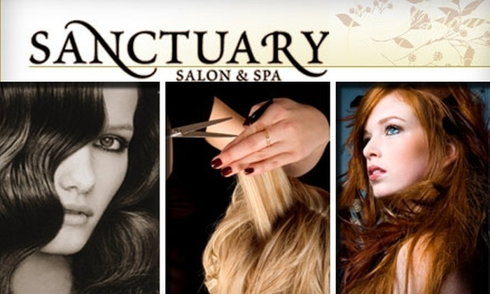 Sanctuary Salon & Spa - Orange County: $40 for a Haircut, Blow Dry, Styling, and Deep Conditioning Treatment at Sanctuary Salon & Spa (Up to $80 Value)