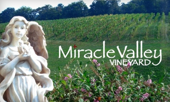 Miracle Valley Vineyard - Marshall: $15 for a Wine Tasting for Two, Two Souvenir Wine Glasses, and a $20 Retail Credit at Miracle Valley Vineyard ($36 Value)