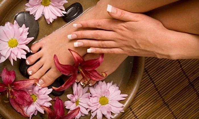 Karma Salon & Spa - Parsippany-Troy Hills: $30 for Manicure, Pedicure, and Hot-Stone Hand and Foot Massage at Karma Salon & Spa in Lake Hiawatha