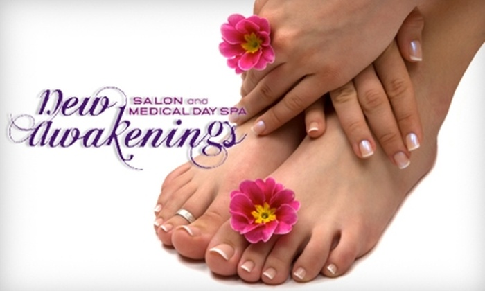 New Awakenings Salon and Medical Day Spa - West and East Lealman: $39 for a Deluxe Mani-Pedi at New Awakenings Salon and Medical Day Spa