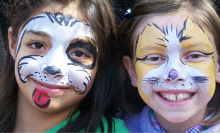 1 Hour of Face Painting, Glitter Tattoos, and Temporary Body Decor (a $95 value) - Embellished Fun in