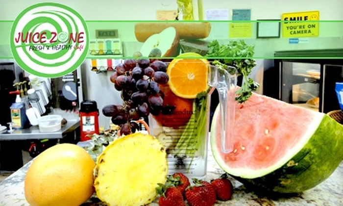 Juice Zone - Downtown: $5 for $10 Worth of Smoothies and More at Juice Zone
