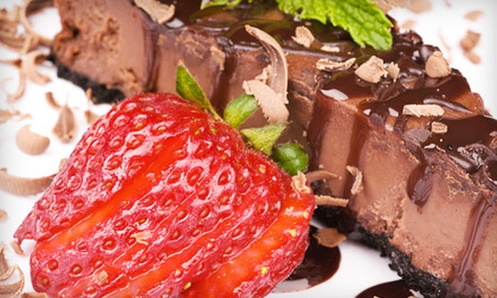 Louise's Kitchen Table - Solvang: 6- or 10-Inch New York–Style or Chocolate Cheesecake from Louise's Kitchen Table (Up to 52% Off)