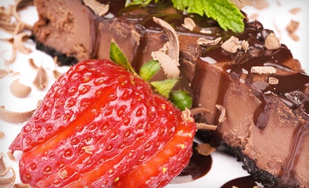 6-inch New York-Style or Chocolate Cheesecake (a $30 value) - Louise's Kitchen Table in