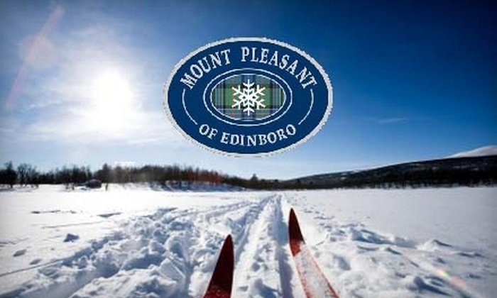 Mount Pleasant of Edinboro - Erie: All-Day Beginners' Lift Ticket, Ski Rental, and One-Hour Group Lesson at Mount Pleasant of Edinboro in Cambridge Springs. Choose Between Two Options.