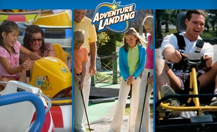 Up To 55 Off At Adventure Landing Adventure Landing