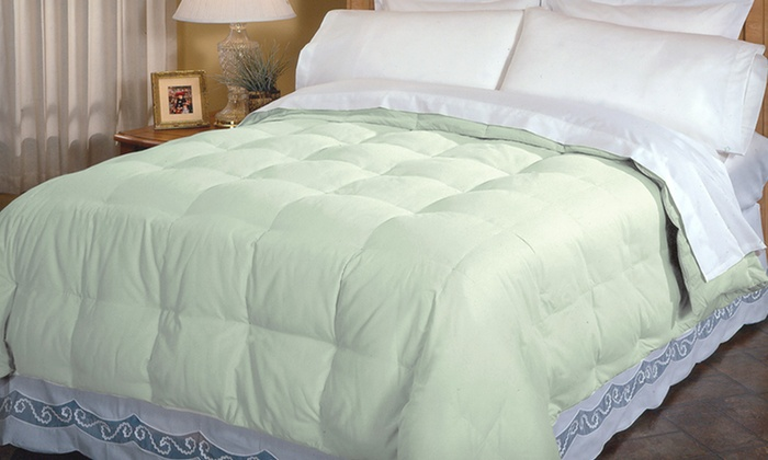 Down-Blend Comforter: $39.99 for a Down-Blend Comforter ($100 List Price). 4 Colors Available. Free Shipping and Returns.