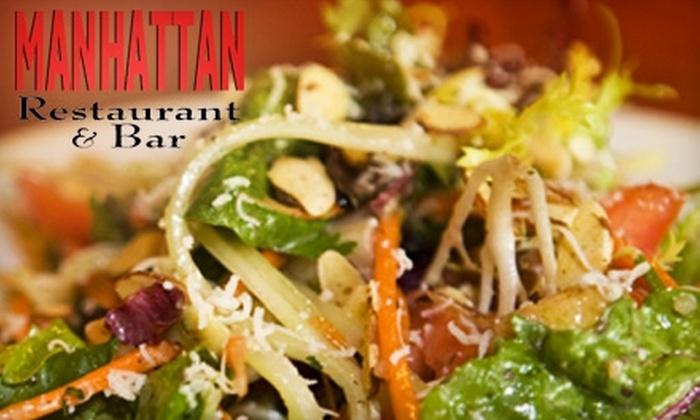 Manhattan Restaurant - Northwest Oklahoma City: $25 for $50 Worth of Upscale American Fare and Drinks at Manhattan Restaurant in Edmond