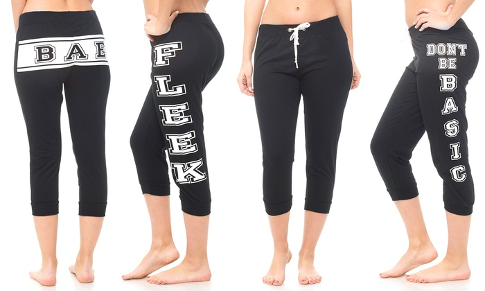 Women's Printed Joggers (4-Pack): Women's Printed Joggers (4-Pack)