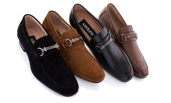 e0a1375ee4f Adolfo Men s Rome Slip-On Dress Shoes