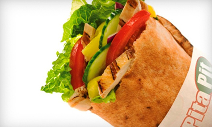 Pita Pit - Lower Dauphin Street: Two Pitas or a 10-Pita Specialty Platter at Pita Pit (Up to 51% Off)