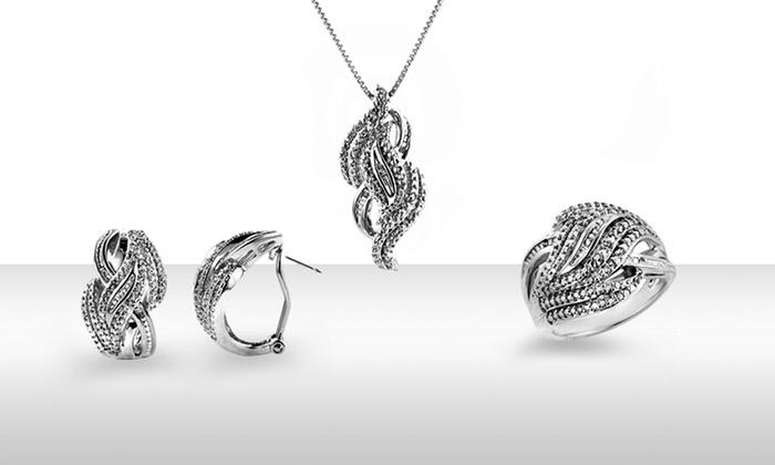 1/4TCW Three-Piece Diamond Jewelry Set: 1/4TCW Three-Piece Diamond Jewelry Set. Free Returns.