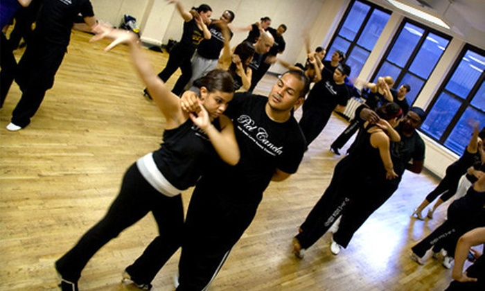 Piel Canela Dance and Music School - Garment District: One or Three Months of Dance Classes or Latin Dance River Cruise from Piel Canela Dance and Music School (Up to 87% Off)