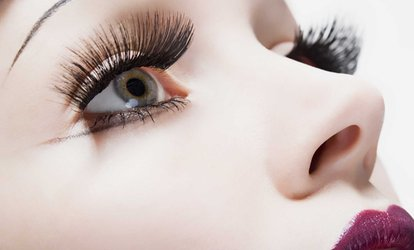 Full Set of Designer or Russian Volume Eyelashes with Extra Volume Option at HMB Salon (Up to 60% Off)