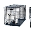 2-Door Collapsible Pet Crate with Removable Tray