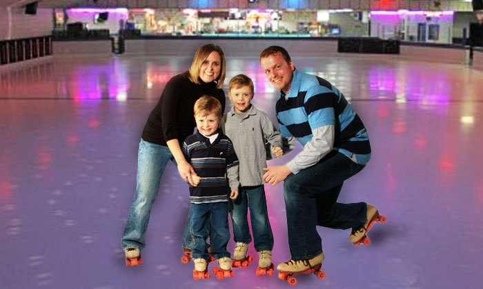 River Roll Skate Center - Northland: Roller-Skating Rental with Pizza for Two or Four at River Roll Skate Center in Riverside (Up to 43% Off)