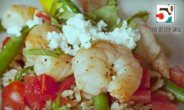 Five 01 City Grill - Northeast Virginia Beach: $15 for $30 Worth of American Grill Fare and Drinks at Five 01 City Grill