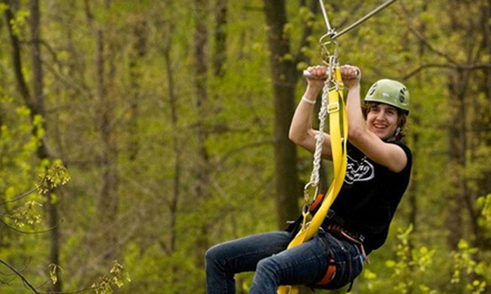 Refreshing Mountain Camp - Stevens: Weekday or Weekend Zipline Canopy Tour for Three at Refreshing Mountain Camp in Stevens