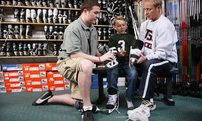 Play It Again Sports Guelph - Multiple Locations: Skate Sharpening, Ski or Snowboard Tune-Up, or Sporting Goods at Play It Again Sports (Up to Half Off)